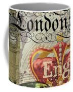 London England Vintage Travel Collage  Coffee Mug