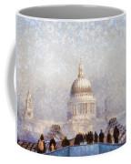 London St Pauls In The Fog Coffee Mug by Pixel  Chimp