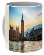 London Uk Big Ben The Palace Of Westminster At Sunset Coffee Mug