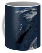 Lone Alpinist Silhouetted On Heavily Coffee Mug