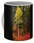 Lone Aspen In Fall Coffee Mug