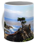 Lone Cypress Tree In Monterey In California Coffee Mug