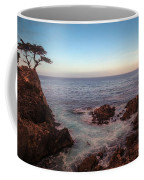 Lone Cyprus Pebble Beach Coffee Mug