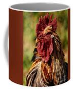 Lone Farm Rooster Portrait Coffee Mug