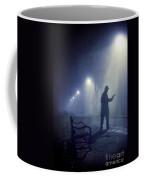 Lone Gunman In Fog At Night Coffee Mug