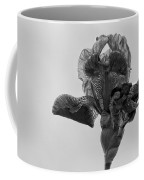 Lone Iris Black And White Coffee Mug