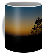 Lone Tree At Sunset Coffee Mug