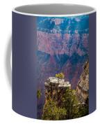 Lone Tree On Outcrop Grand Canyon Coffee Mug