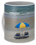 Lonely Beach Chairs Coffee Mug