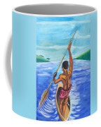 Lonely Boatman In Rwanda Coffee Mug