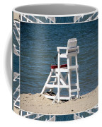 Lonely Lifeguard Station At The End Of Summer Coffee Mug