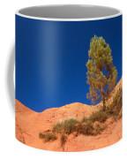 Lonely Pine On The Ocher Hill Coffee Mug