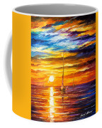 Lonely Sea 3 - Palette Knife Oil Painting On Canvas By Leonid Afremov Coffee Mug