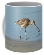 Long-billed Curlew Catching Crab Coffee Mug