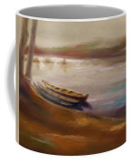 Long Boats At The Crossing Coffee Mug