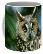 Long-eared Owl Up Close Coffee Mug
