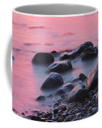 Long Exsposure Of Rocks And Waves At Sunset Maine Coffee Mug