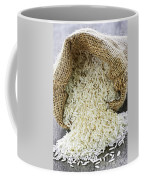 Long Grain Rice In Burlap Sack Coffee Mug