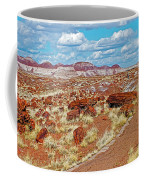 Long Logs Trail In Rainbow Forest In Petrified Forest National Park-arizona  Coffee Mug