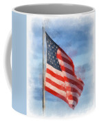 Long May She Wave Coffee Mug by Kerri Farley