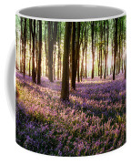 Long Shadows In Bluebell Woods Coffee Mug