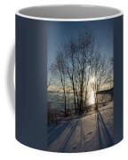 Long Shadows In The Snow Coffee Mug