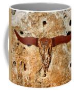Longhorn On The Rock Coffee Mug