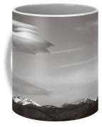 Longs Peak And Lenticular Clouds Coffee Mug