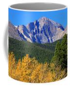 Longs Peak Autumn Aspen Landscape View Coffee Mug