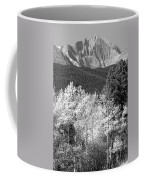 Longs Peak Autumn Scenic Bw View Coffee Mug