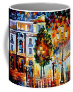 Lonley Couples - Palette Knife Oil Painting On Canvas By Leonid Afremov Coffee Mug