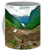 Looking Back To Lake Louise From Trail To Plain Of Six Glaciers In Banff Np-ab  Coffee Mug