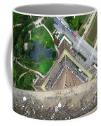 Looking Down From The Eiffel Tower Coffee Mug