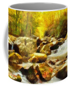 Looking Down Little River In Autumn Coffee Mug by Dan Sproul