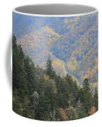 Looking Down On Autumn From The Top Of Smoky Mountains Coffee Mug