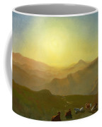 Looking From The Shade On Clay Hill .sunset Clay Street Hill San Francisco Coffee Mug