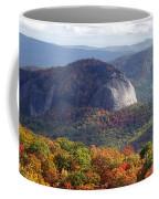 Looking Glass Rock And Fall Folage Coffee Mug