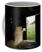 Looking Out Old Barn Coffee Mug