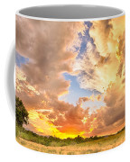 Looking Through The Colorful Sunset To Blue Coffee Mug