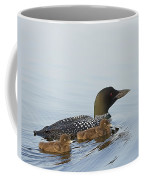 Loon Chicks Cruising With Mom Coffee Mug