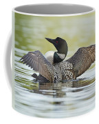 Loon Wing Spread With Chick Coffee Mug
