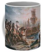 Lord Howe Organizes The British Evacuation Of Boston In March 1776 Coffee Mug by English School