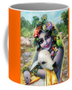 Lord Krishna On The Govardhan Coffee Mug