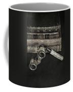 Lorgnette With Books Coffee Mug