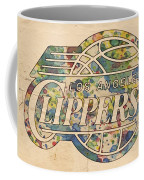 Los Angeles Clippers Poster Art Coffee Mug