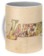 Los Angeles Lakers Logo Art Coffee Mug
