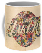 Los Angeles Lakers Poster Art Coffee Mug