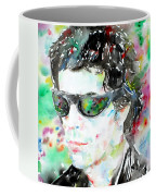 Lou Reed Watercolor Portrait.2 Coffee Mug