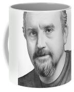 Louis Ck Portrait Coffee Mug by Olga Shvartsur