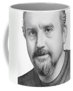 Louis Ck Portrait Coffee Mug by Olga Shvartsur